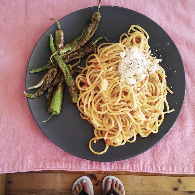 espaguettis picantes